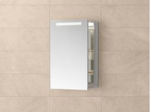 "Contempo 23"" x 30"" Metal Frame LED Medicine Cabinet in Brushed Nickel"