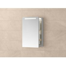 """Contempo 23"""" x 30"""" Metal Frame LED Medicine Cabinet in Brushed Nickel"""