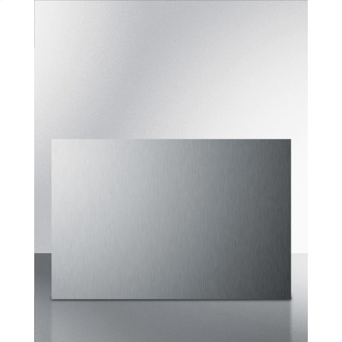 Summit B24ss Is A 24 Inch Wide By 24 Inch High Backsplash In Stainless Steel