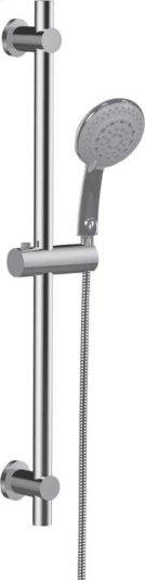 Multifunction Hand Shower With All Brass Slide Bar in Polished Chrome Product Image