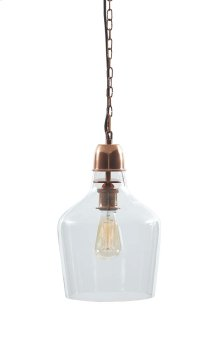 Glass Pendant Light (1/CN) Hadi - Clear/Copper Finish Collection Ashley at Aztec Distribution Center Houston Texas