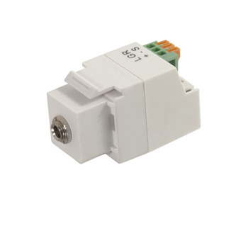 3.5mm 3-Conductor Keystone Adapter