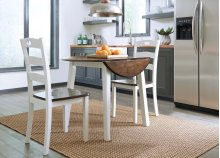 Woodanville - White/Brown 3 Piece Dining Room Set