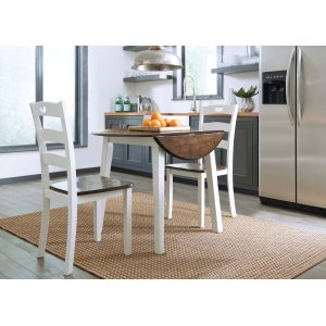Ashley Furniture Woodanville - Cream/brown 3 Piece Dining Room Set