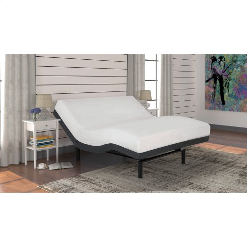 S-Cape+ 2.0 Adjustable Bed Base with (2) 4-Port USB Hub's and Full Body Massage, Charcoal Gray Finish, Split King