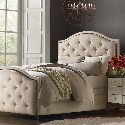 Custom Uph Beds Dublin Queen Straight Wing Bed