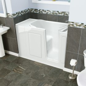 Entry Series 48x28 Inch Walk-In Bathtub with Dual Jet and Air Massage System  American Standard - White