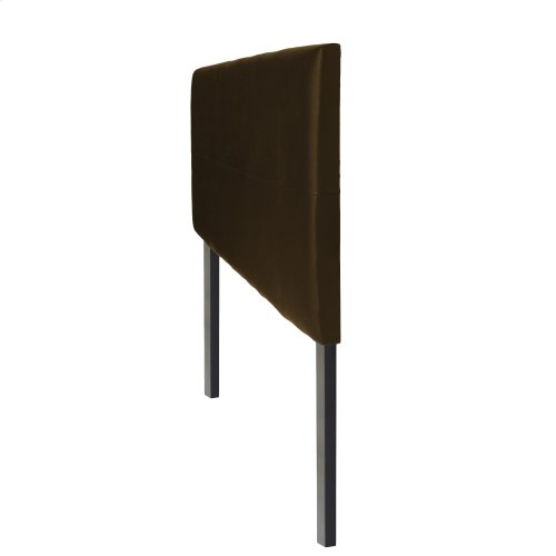 Bronson Faux Leather Upholstered Headboard with Adjustable Height, Mocha Finish, Full / Queen