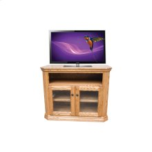 "O-TF296 Traditional Oak 38"" Clipped Corner TV Console"