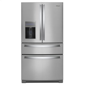Whirlpool36-inch Wide 4-Door Refrigerator with Exterior Drawer - 26 cu. ft. Fingerprint Resistant Stainless Steel