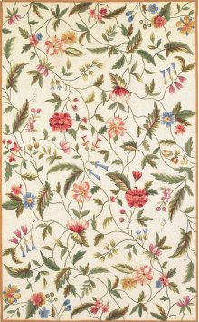 Colonial 1783 Ivory Springtime Views 2' X 8' Runner