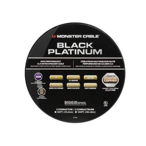 Black Platinum Clear Jacket Speaker Cable CL Rated Monster XP - 50 ft