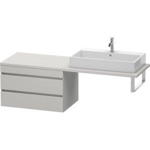 Durastyle Low Cabinet For Console, Concrete Gray Matt Decor