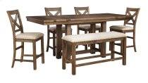 Moriville - Grayish Brown 6 Piece Dining Room Set Product Image