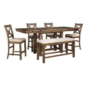 Ashley Furniture Moriville - Grayish Brown 6 Piece Dining Room Set