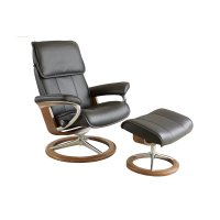 Stressless Admiral Large Signature Base Chair and Ottoman Product Image