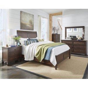 6/6 King Storage Bed - Sable Finish