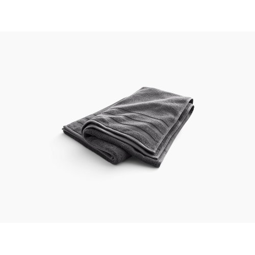 """Thunder Grey Bath Towel With Terry Weave, 30"""" X 58"""""""