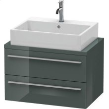 X-large Vanity Unit For Console Compact, Dolomiti Gray High Gloss Lacquer