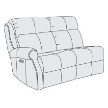 McGwire Left Arm Power Motion Loveseat in #6 Antique Brass