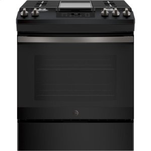 "GE®30"" Slide-In Front Control Gas Range"
