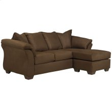 Signature Design by Ashley Darcy Sofa Chaise in Cafe Microfiber