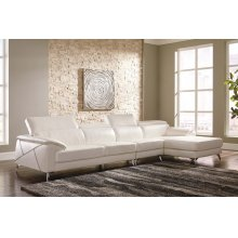 Tindell III Sectional White Right