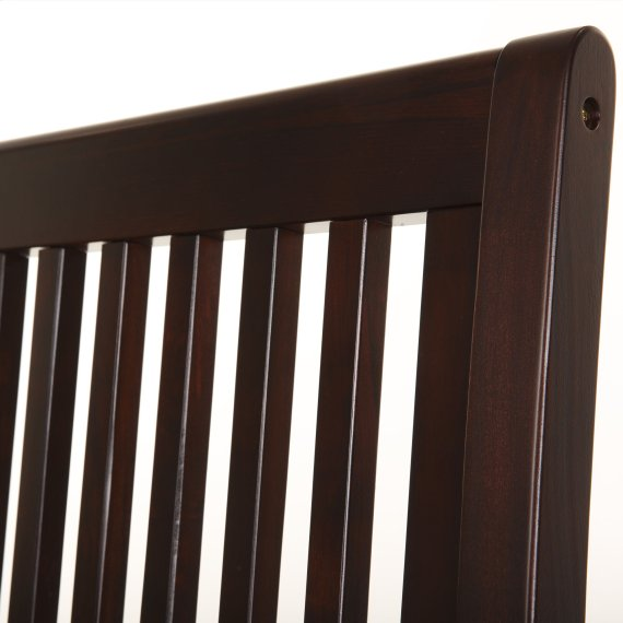Mission Complete Wood Daybed with Link Spring Support Frame and Open-Slatted Panels, Espresso Finish, Twin