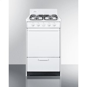 "Summit20"" Wide Gas Range In White With Sealed Burners and Electronic Ignition; Replaces Wnm1107f"