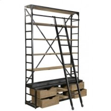 Industrial Library With Ladder