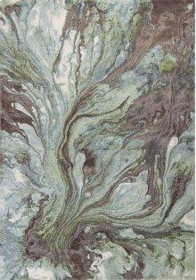 "Illusions 6203 Seafoam Watercolors 3'3"" X 4'11"""