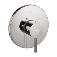 Chrome Single lever shower mixer for concealed installation with lever handle