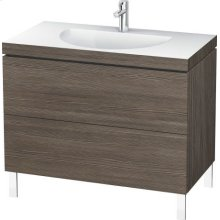 Furniture Washbasin C-bonded With Vanity Floorstanding, Pine Terra (decor)