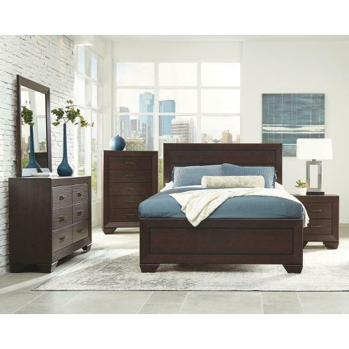 Fenbrook Transitional Dark Cocoa Eastern King Five-piece Set