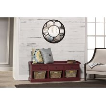 Tuscan Retreat® Bench With 3 Drawers - Antique Red