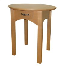 Round End Table with Drawer