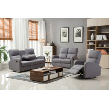 Alexander Gray Fabric Recliner Chair