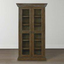 Emporium Smoked Oak Compass Tall Single Display Cabinet