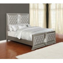 Adele Contemporary Metallic Eastern King Bed