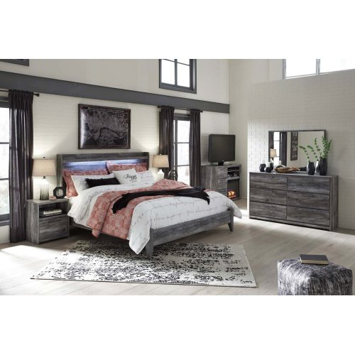 Baystorm - Gray 2 Piece Bed Set (King)
