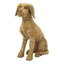 Wooden Sitting Dog