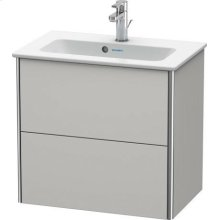 Vanity Unit Wall-mounted Compact, Nordic White Satin Matt Lacquer