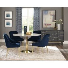 Modern Dark Ink Blue Dining Chair