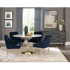 Modern Dark Ink Blue Dining Chair