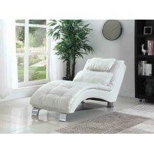 Dilleston Contemporary White Chaise