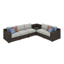 Alta Grande - Beige/Brown 3 Piece Patio Set