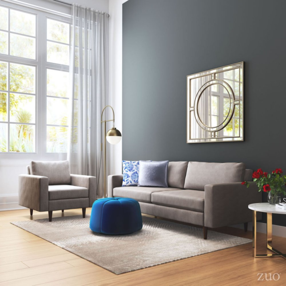 ICON Furniture & Art - Zuo Modern - Blue Coral Pillow Blue ...