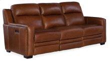 Living Room Lincoln Power Recline Sofa w/ Power Headrest &Lumbar Recline