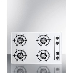 "Summit30"" Wide Cooktop In White, With Four Burners And Battery Start Ignition; Replaces Wtl05p"