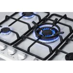 "Summit 5-burner Gas Cooktop Made In Italy In A White Finish With Sealed Burners, Cast Iron Grates, and Wok Stand; Fits Standard 24"" Wide Cutouts"